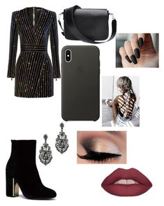 """noche de fiesta😎"" by laianeira ❤ liked on Polyvore featuring Balmain and Apple"