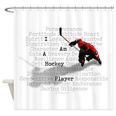 I Am A Hockey Player Shower Curtain On CafePress Bathroom Kids Players