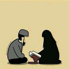 from the story LOVE GOES BY MARRIAGE! Cute Muslim Couples, Cute Couples, Cute Love Cartoons, Cute Cartoon, Wedding Couple Cartoon, Muslim Pictures, Islamic Cartoon, Anime Muslim, Hijab Cartoon