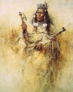 Howard Terpning - Crow Pipe Holder - Signed and Numbered Print Native American Print, Native American Paintings, Native American Artists, American Indian Art, Indian Paintings, American Indians, Dreams Catcher, Howard Terpning, Crow Art