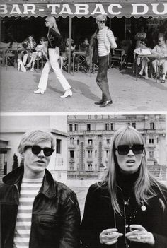 Andy Warhol & Nico [Christa Päffgen] - Paris, ~ another b/w photo! Style Année 60, Style Icons, Everybody's Darling, Andy Warhol Pop Art, Chelsea Girls, Delon, Beatnik, Actors, Belle Photo