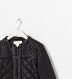 Image 3 of FAUX LEATHER QUILTED JACKET from Zara
