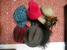 Vintage hats.  Found at the Old Hotel Market  441 Main Street, New Market MN  952 270 6056