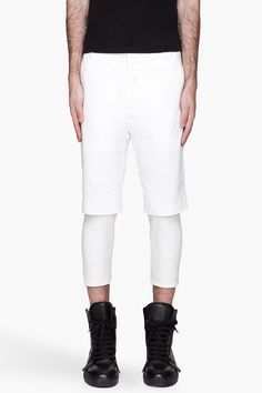 3.1 PHILLIP LIM White Slim Fit layered Shorts