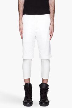 3.1 PHILLIP LIM White Slim Fit layered Shorts