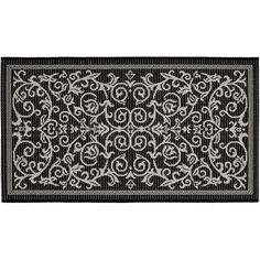 Safavieh Courtyard Decorative Scroll Indoor Outdoor Rug, Multicolor