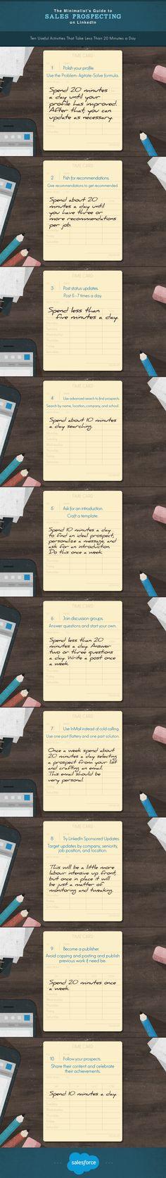 The Minimalist's Guide to Sales Prospecting on LinkedIn #infographic #LinkedIn #SocialMedia