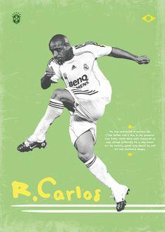 Leyendas del fútbol: Roberto Carlos por Dylan Giala, via Behance