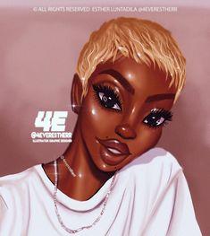 🦜🍏🍋Tropical look Software: Photoshop Tools : Huion Display tablet Music: Mimi ft blackdiamond -blessings Black Love Art, Black Girl Art, Black Is Beautiful, Black Girl Magic, Art Girl, Natural Hair Art, Natural Hair Styles, Black Girls Power, Black Girl Cartoon
