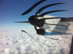 Prop blades and rolling shutter.