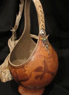 Bangles Gourd-Wood Basket | BP Gourds