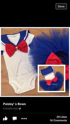 Sailor moon-esque tutu if baby is a little lady