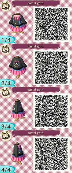 Pastel goth QR code for ACNL // credit unknown (pls let me know if this is yours so I can give credit!!)