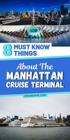 Everything you need to know about the Manhattan Cruise Terminal in New York City. Covering all the cruise and travel tips needed to begin your vacation at sea. #cruise #cruises #cruisetravel #manhattan #newyork #cruisetips #thingstodo #nyc