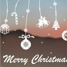 Free  shipping  Christmas and New Year gift shop window sticker glass wall sticker