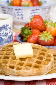 Grandma's Homemade Waffles | Vintage Cooking. This recipe for Grandma's homemade waffles is made with eggs, sugar, milk, and butter. Whipped egg whites make these waffles light, delicate, and fluffy. Serve for breakfast or brunch with real dairy butter and maple syrup. If your have been searching for waffles like Grandma used to make, try this delicious recipe. http://www.vintagecooking.com/grandmas-homemade-waffles/