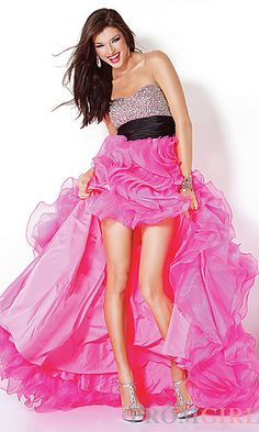 Jovani Strapless High-Low Gown at PromGirl.com
