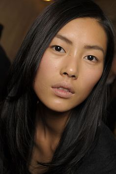 Natural beauty, Liu Wen -- and the first Asian face of Estee Lauder. Love it.