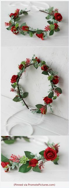 Really beautiful rose flower crown with trendy greenery succulents for you perfect wedding day, flower girls, bridesmaids! Dark red rose flower succulent greenery crown Flower girl wreath Bridal Bridesmaid headpiece Maternity Photo shoot crown Boho Floral halo https://www.etsy.com/FlowerDreamsBoutique/listing/626880101/dark-red-rose-flower-succulent-greenery?ref=shop_home_active_1  (Pinned using https://PromotePictures.com)