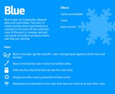 Colorful Emotions effects of blue color Color Symbolism, Colors And Emotions, Color Meanings, Color Psychology, Love Blue, Art Therapy, Colour Therapy, Color Theory, Color Azul