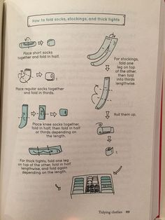 KonMari How to Fold Socks, Stockings, and thick tights. Mostly store tights with roll side up, but if thick may want to be left folded. Wardrobe Organisation, Household Organization, Home Organization Hacks, Closet Organization, Organizing Tips, Konmari Method Folding, Organizar Closet, Thick Tights, Tidy Up