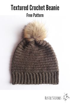 Free Pattern for this textured beanie with an awesome ribbed effect!