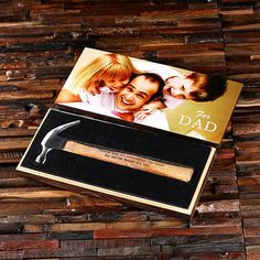 """Personalized Hammer """"Your Photo"""" with Wood Box Printed"""