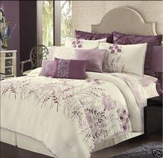 Daisy Fuentes Floral Garden Comforter Set Cal King 4 PC Raspberry Purple New | eBay