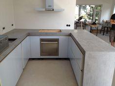 Afbeeldingsresultaat voor betonlook keukenblad ikea