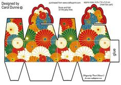 Bonbon Box -chinese Flowers - CUP182101_173   Craftsuprint