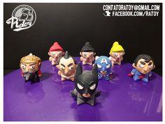 Bat, Capi, Supermano, Sumôzinho, Chef e Pins