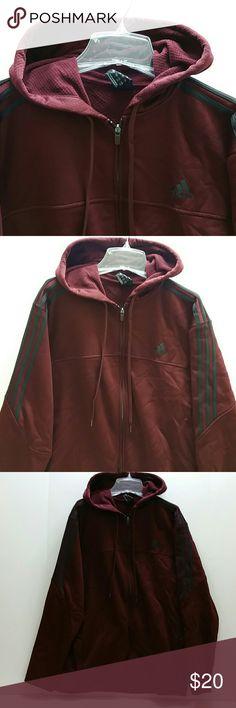 ADIDAS MEN'S HOODIE JACKET VERY CLEAN INSIDE-OUT   FULL ZIP JACKET   SKE # VM ADIDAS Jackets & Coats
