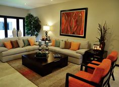 33 Awesome Modern Living Room Ideas - Home Bestiest Living Room Orange, Indian Living Rooms, Living Room Modern, Living Room Sofa, Home Living Room, Living Room Designs, Living Room Decor, Indian Home Decor, Living Room Lighting