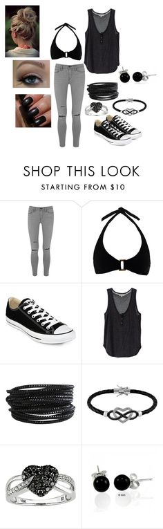 """""""Girls day"""" by l-kat-w ❤ liked on Polyvore featuring Frame Denim, Heidi Klein, Converse, Pieces, Jewel Exclusive, Ice, Bling Jewelry and Bobbi Brown Cosmetics"""