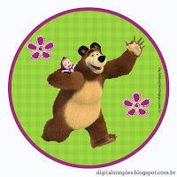 Kit Festa Aniversário Masha e o Urso - Convites Digitais Simples Bear Birthday, 2nd Birthday Parties, Marsha And The Bear, Bear Theme, Bear Party, Bear Doll, Fiesta Party, Party Themes, Party Ideas