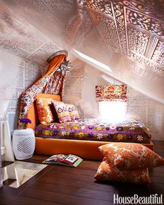 Colorful Attic Room