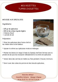 Mousse aux Spéculoos Mousse Speculoos, Creme, Alcoholic Drinks, Desserts, Food, Recipes, Liquor Drinks, Tailgate Desserts, Deserts