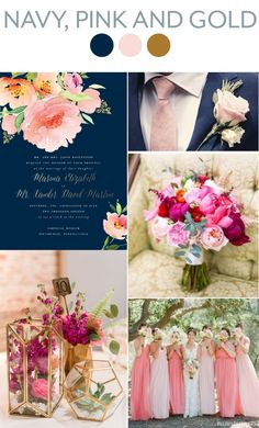 Navy, Pink and Gold Wedding Inspiration   Blush Paper Co.