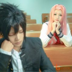 Cosplay Sasuke and Sakura Naruto Cosplay, Cosplay Anime, Cosplay Makeup, Cosplay Outfits, Best Cosplay, Cosplay Costumes, Awesome Cosplay, Sakura And Sasuke, Naruto And Sasuke
