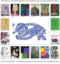 Welcome to a collection of outsider art Web Gallery, Art Brut, Outsider Art, The Outsiders, Presents, Kids Rugs, Artist, Collection, Mannheim