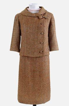 Asymmetrical Pastel Tweed Suit