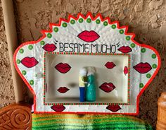 Typical Mexican tin nicho folk art with a modern twist. Inspired by Dia de Los…