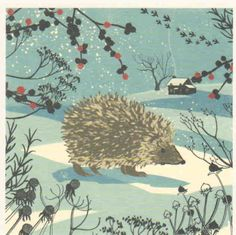 """Hedgehog"" by Nicola O'Byrne, courtesy of www.brightartlicensing.com. Published by Museums & Galleries Marketing Ltd, www.museumsgalleries.com."