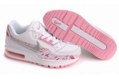 Baratas España Nike Air Max LTD Blancas/Rosa Blancash Gris Logo Zapatillas Mujer