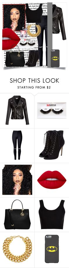 """Baby Rocker ♥"" by clo-23 ❤ liked on Polyvore featuring Morphe, Kylie Cosmetics, Lime Crime, MICHAEL Michael Kors, Calvin Klein Collection, A.V. Max and Lancôme"