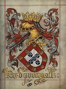 Arms of King of Portugal - Livro do Armeiro-Mor by Serge Averbukh Portuguese Tattoo, Portuguese Flag, History Of Portugal, Nostalgic Pictures, Family Shield, Medieval Paintings, Arm Armor, Chivalry, Family Crest