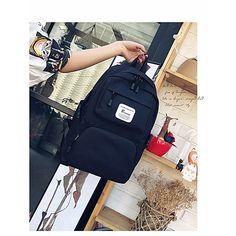 Men's Bags Nylon Backpack Pocket for Casual All Seasons Black Gray Fuchsia 2018 - $19.99