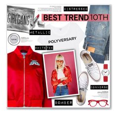 """Celebrate Our 10th Polyversary!"" by nanawidia ❤ liked on Polyvore featuring Citizens of Humanity, Carven, Mondaine, Splendid, Converse, Sarah Baily, Cutler and Gross, NYX, Burberry and polyversary"