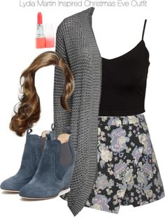 A fashion look from December 2014 featuring long cardi, cropped shirts and golf skirts. Browse and shop related looks. Teen Wolf Fashion, Teen Wolf Outfits, Fashion Tv, Fashion Outfits, Maxi Outfits, Girly Outfits, Cute Casual Outfits, Stylish Outfits, Lydia Martin Outfits