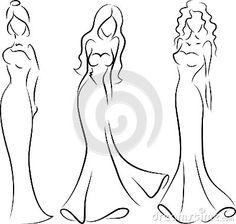 Femme de mode, dessin de main